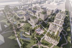 Jiří Petrželka a Kristýna Klůsová s návrhem přeměny reálné industriální zóny v Saint-Denis ve Francii